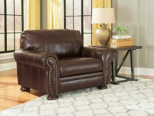 Ashley Furniture Banner Leather Chair and a Half