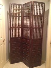 Mid Century Room Divider Screen 7' Solid Wood Walnut? CLEARANCE!