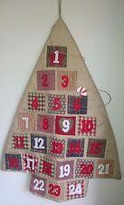 JOBLOT 10 al por mayor XL Scandi Nordic Tela Calendario de adviento árbol de Navidad Bnwt