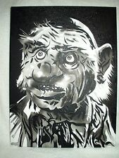 Canvas Painting Labyrinth Movie Hoggle A B&W 16x12 inch Acrylic