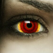 "Maxi Sclera Lenses ""Red Monster"" rote Kontaktlinsen Farbige Halloween Linsen"