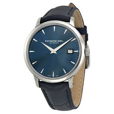 Raymond Weil Toccata Blue Dial Black Leather Mens Watch 5488-STC-50001