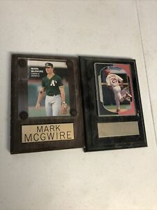 2 VERY NICE MARK MCGWIRE WALL PLAQUES WITH CARDS!