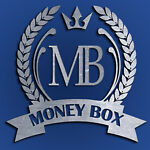 Money Box Coins and Banknotes