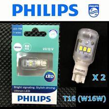 PHILIPS T16 W16W Ultinon LED 12V Xenon White Reverse Signal Light Bulb x 2 #SG