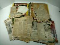 Vintage Lot Of Recipes In Binder Clipped From Newspaper And Magazines