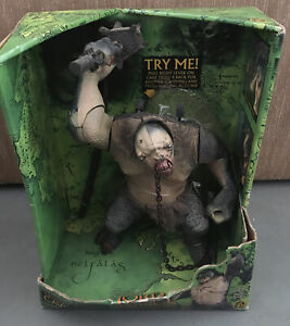 2001 Lord Of The Rings Electronic Sound & Action Cave Troll Figure New In Box