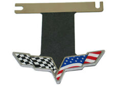 Corvette C6 Exhaust Plate American Flag Cutout Stainless Steel