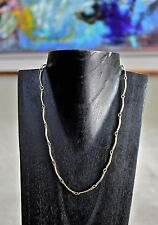 """GOLD NECKLACE 18"""" CHOKER  Vintage NEW TOP QUALITY Curved  LINKS Chain EXCELLENT!"""