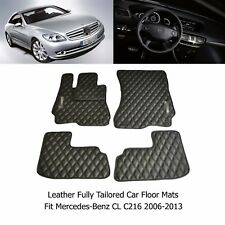 Leather Car Floor Mats Luxury Bespoke Fully Tailor Fit Mercedes CL C216 2006-13