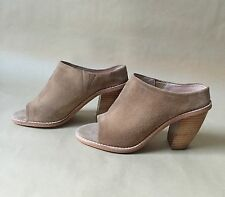 NEW Anthropologie Sol Sana Liza Mules Size 38 Light Brown Suede