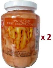 2 Jars of Pickled Young Sliced Ginger for Sushi Free Shipping