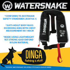 Watersnake Black Inflatable PFD Life Jacket Adult Level 150 Manual