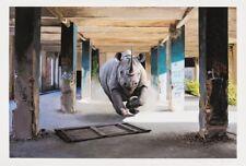"Josh Keyes  "" QUAKE "" 2017 -Limited Edition Giclée Art Print | 58/150 w COA"