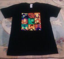 MARVEL AVENGERS Personaggio Pop Art T shirt nera, taglia M, Iron Man, Thor, Hulk