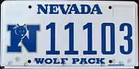 """NEVADA """" GO PACK WOLF NFL"""" DISCONTINUED """" NV University Specialty License Plate"""