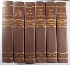 VALENTINE WILLIAMS SECRET SERVICE SERIES SIX VOLUMES MAILING BOX 1930'S RARE