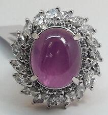 PLATINUM Pink SAPPHIRE & DIAMOND Ring - R9311