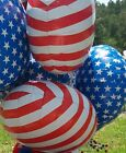 """North Star Balloon Patriotic Red and White Stripe 20.5"""" Foil Lot of 12 Balloons"""