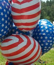 """lot of 12 North Star Balloon Patriotic Red and White Stripe 20.5"""" Foil Balloons"""