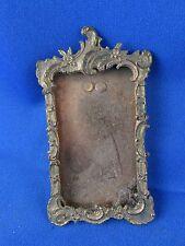 ancien petit cadre porte photo en laiton doré style L XV  rocaille 19e