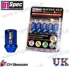 D1 SPEC RACING WHEEL NUTS BLUE P1.25 350Z 200SX IMPREZA WRX SKYLINE R33 SWIFT