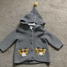 Next Baby Striped Giraffe Hooded Cardigan (3-6 Months)