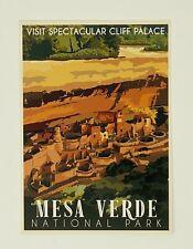 Mesa Verde National Park - Retro Ranger Postcard by Impact (Cliff Palace)