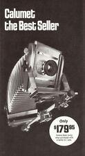 1978 CALUMET 4 X 5 VIEW CAMERA SYSTEM BROCHURE -CC402-CC403-C C404-CALUMET