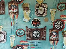 WtW Fabric Beer Bar Tavern Ad Mug Darts Men Novelty Game sport 2259 B BTY Quilt