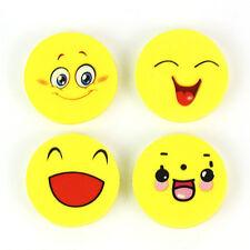 Lots 4PCS Cartoon Funny Emoji Pencil Eraser Students Kids Stationery Gift Toy
