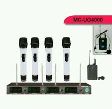 Professional Wireless Microphone UHF 4 Channel Mic