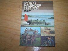 Calendrier Automobile Moteur livre de DDR 1982 SIMSON W50 NVA WARTBURG trabant