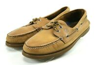 Sperry Top Sider AO 2 Eye $100 Men's Boat Shoes Size 8 Wide Leather Brown
