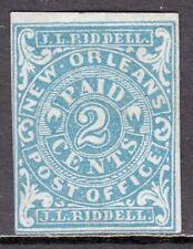CONFEDERATE STATES — SCOTT 62X1 — 1861 2¢ BLUE NEW ORLEANS PROV. — MH — SCV $225