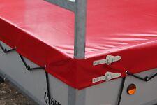 Flachplane mit H-Gestell nach Maß bis 3.20 Meter Länge Oliv LKW Plane 680 gr/m²