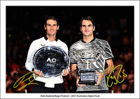 ROGER FEDERER RAFA NADAL SIGNED PRINT POSTER PHOTO AUSTRALIAN OPEN FINAL TENNIS
