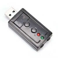Mini USB 2.0 3D Virtual 12Mbps External 7.1 Channel Audio Sound Card Adapter P&C