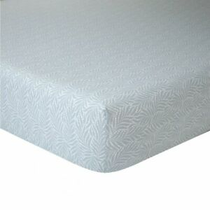 """MADE IN FRANCE WHITE COTTON PERCALE 18/"""" D FITTED SHEET FLANDRE BY YVES DELORME"""