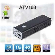 ATV168  Android Quad Core TV Stick WIFI USB UHD4K2K HDMI-In HOME Media streamer