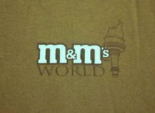 M&Ms WORLD lrg T shirt milk chocolate Lady Statue Liberty mascot New York tee OG