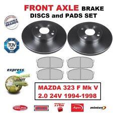 Pour Mazda 323 F Mk V 2.0 24V 1994-1998 Essieu avant Plaquettes + Ensemble