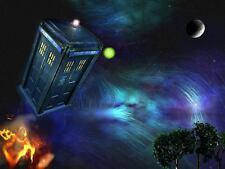 Dr Who Tardis A4 260GSM arte cartel impresión
