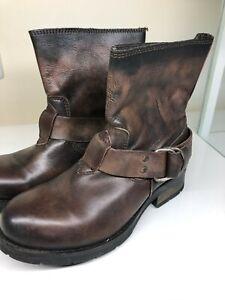 DIESEL Leather Women Biker boots size 39