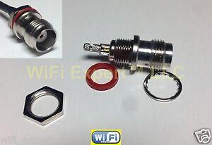 1x TNC Female SML Bulkhead Window Solder Crimp RG316 RG174 RG179 LMR100 RF Cable