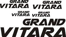 SUZUKI  GRAND VITARA car wing mirror body bumperdecals vinyl stickers x 5