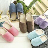 Women Men Winter Warm Fleece Anti-Slip Slippers Home Sandals Indoor House Shoes