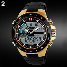 New Men Vogue Waterproof Sport Digital Analog Alarm Date Chronograph Wrist Watch