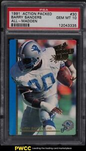 1991 Action Packed All-Madden Barry Sanders #30 PSA 10 GEM MINT