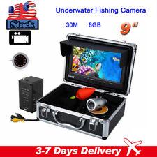 "9"" LCD Monitor 30M Fish Finder with 8GB DVR Recording 1000TVL Fishing Camera"
